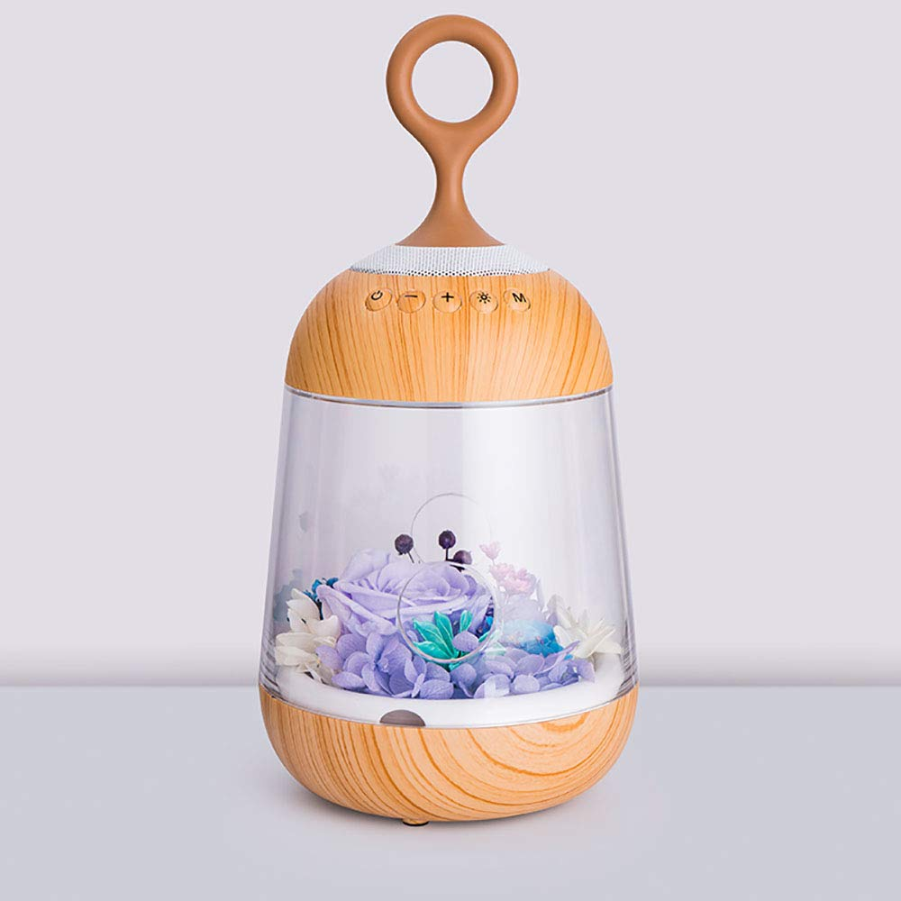 GYFY Colorful Bluetooth Audio Creative Birthday Gift Eternal Flower Gift USB Charging Party Decorative Bedside lamp