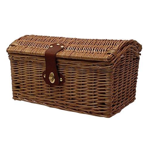 MV-TEK Cestino vimini bauletto small (Cestini Ciclo) / Wicker basket small top case (Bike Basket )