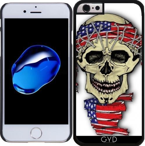 Coque pour Iphone 6 Plus (5,5'') - Crâne Amérique by WonderfulDreamPicture