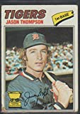 1977 Topps Jason Thompson Tigers Baseball Card #291