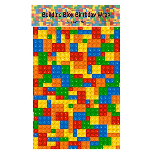 Building Blox Wrapping Paper - 24 Inch X 36 Inch