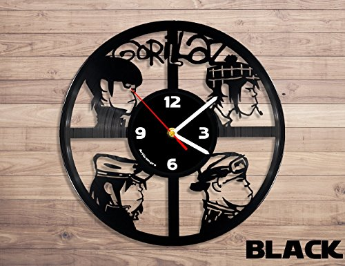 gorillaz vinyl record wall clock