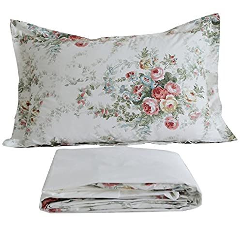 Captivating FADFAY Vintage Rose Floral Bed Sheet Set Cotton Bedsheet Full Size