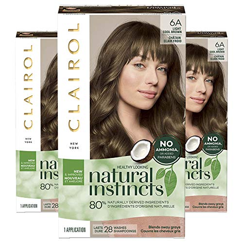 Clairol Natural Instincts, 6A Light Cool Brown, Tweed, 3 Count