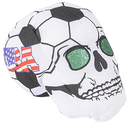 7'' USA SOCCER BALL SKULL HEADS, Case of 36 by DollarItemDirect