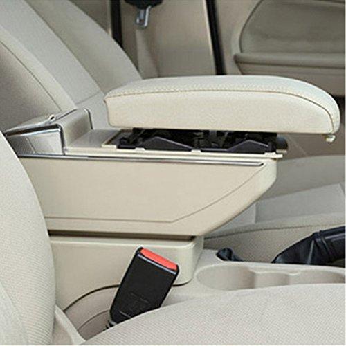 Reposabrazos para consola central de coche para Peugeot 206 207 2006 – 2013 reposabrazos de coche caja de almacenamiento...