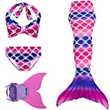 Rainbow Swimmable Mermaid Tail Bikini Sets