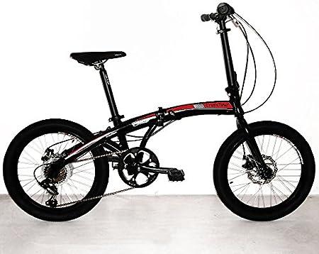 Bicicleta plegable Crosstown, unisex de Cicli Cinzia, Unisex adulto, 8033389464363, azul mate, 20: Amazon.es: Deportes y aire libre