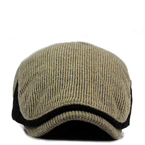 (Hat for Baby Boy 0-3 Months,Winter Men Color Block Vintage Ajustable Gatsby Peaked Cap Newsboy Beret Hat,Women's Novelty Socks & Hosiery,Beige,One Size)