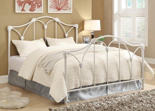 White Metal Queen Bed - 7