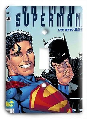 Batman Superman Hanging Out Light Switch