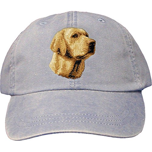Cherrybrook Dog Breed Embroidered Adams Cotton Twill Caps - Periwinkle - Labrador ()
