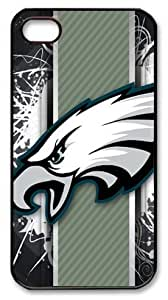 icasepersonalized Personalized Protective Case For Iphone 4/4S Cover NFL Philadelphia Eagles, American Football