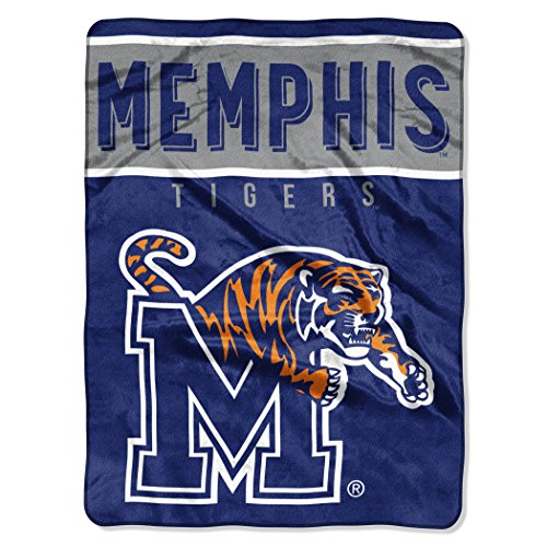 The Northwest Company Officially Licensed NCAA Memphis Tigers Basic Plush Raschel Throw Blanket, 60