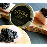 Sturgeon Caviar, CERTIFIED ORGANIC, From the Pristine Waters of British Columbia, Rated Top 5 Sustainable Caviars in the World, Exemplary Texture and Flavor, No Antibiotics or Hormones Added, 30g Tin