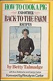 Ht ck pig Recip, &cart, Talmadge,&cart Robitscher, 0671226800