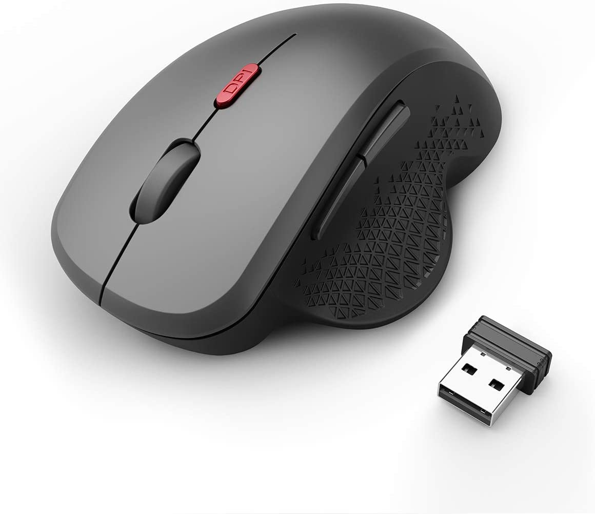 Aoile Q3//Q3B Wireless Mouse Silent Design Computer Mouse 1200 DPI Ergonomic Design for Laptop Notebook Q3 Wireless Black