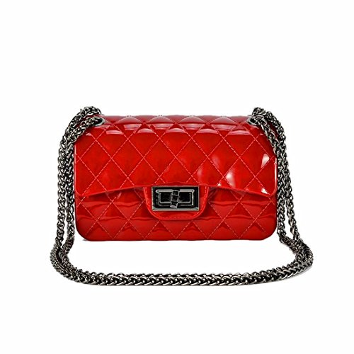 Carta opaca per sacchetto in chiffon jelly bag sacca catena mini borsa messenger bag, rosso