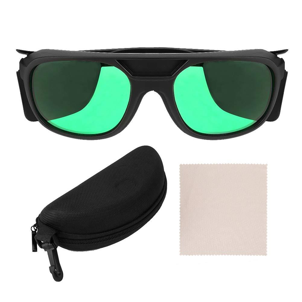 Gafas Led Para Sala De Cultivo, Gafas De ProteccióN Ocular Anti-UV Gafas De Seguridad Para Cultivo HidropóNico Interior Lente Verde Para ProteccióN De La IluminacióN LED