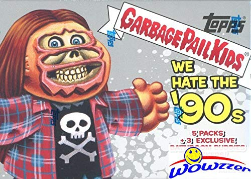 2019 Topps Garbage Pail Kids Series 1 WE HATE THE '90's EXCLUSIVE Factory Sealed Value Box with Special BATHROOM BUDDIES BONUS STICKERS! Look for Autographs, Sketch Cards & Printing Plates! ()