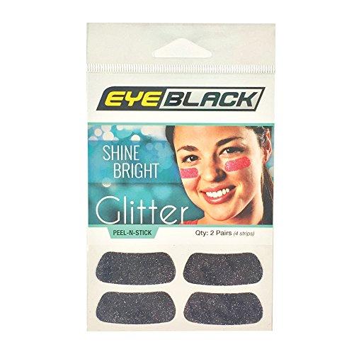 Softball Glitter - EyeBlack Black Softball Glitter Eye Black Strips, 2 Pair