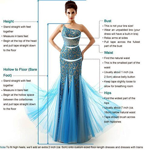 Ikerenwedding - Vestido - para mujer Azul