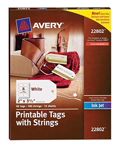 - Avery Printable Tags with Strings for Inkjet Printers, 2