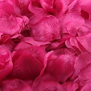 Nine to Nine Pack of 1000 Rose Petals, Artificial Flowers for Decoration Wedding Party 85