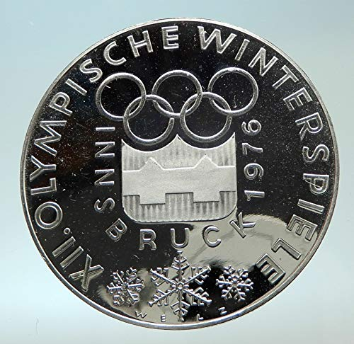 1976 AT 1976 AUSTRIA Innsbruck Winter OLYMPIC Games 100 S coin Good Uncertified