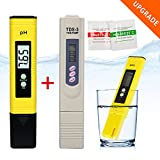 Ph & TDS Meter Set, Combo of +/- 0.01 PH High Accuracy Water Quality Tester and +/- 2% Readout Accuracy TDS Meter