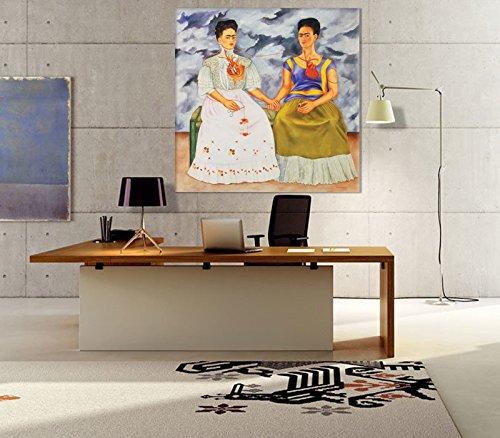GIALLO BUS - - BILD - BUS DRUCK AUF LEINWAND - FRIDA KAHLO - DIE ZWEI FRIDAS - 100 x 100 CM df087a