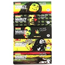Bob Marley 1 1/4 Size Pure Hemp Cigarette Rolling Papers 5 Packs