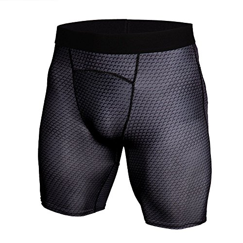 - WEUIE Men's Compression Shorts Men Quick Dry Black Performance Athletic Shorts Workout Fitness Gym Short Pants