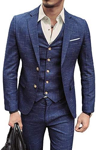 [スポンサー プロダクト]LIRENSIGE スリーピース スーツ メンズ 紳士服 コート ベスト パンツ 3点セット セットアップ オシャレ スタイリッシュスーツ ヨーロピアン風 ビジネス フォーマル パーティー 面接 通勤 結婚式 パーティー...