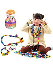 Lauva Pop Beads, Education Learning Toy Jewelry Making Kits Snap Beads Set for Toddlers Kids Girls, BPA Free Necklace Bracelet Rings Creative DIY Art Crafts Christmas Birthday Gifts (380pcs)