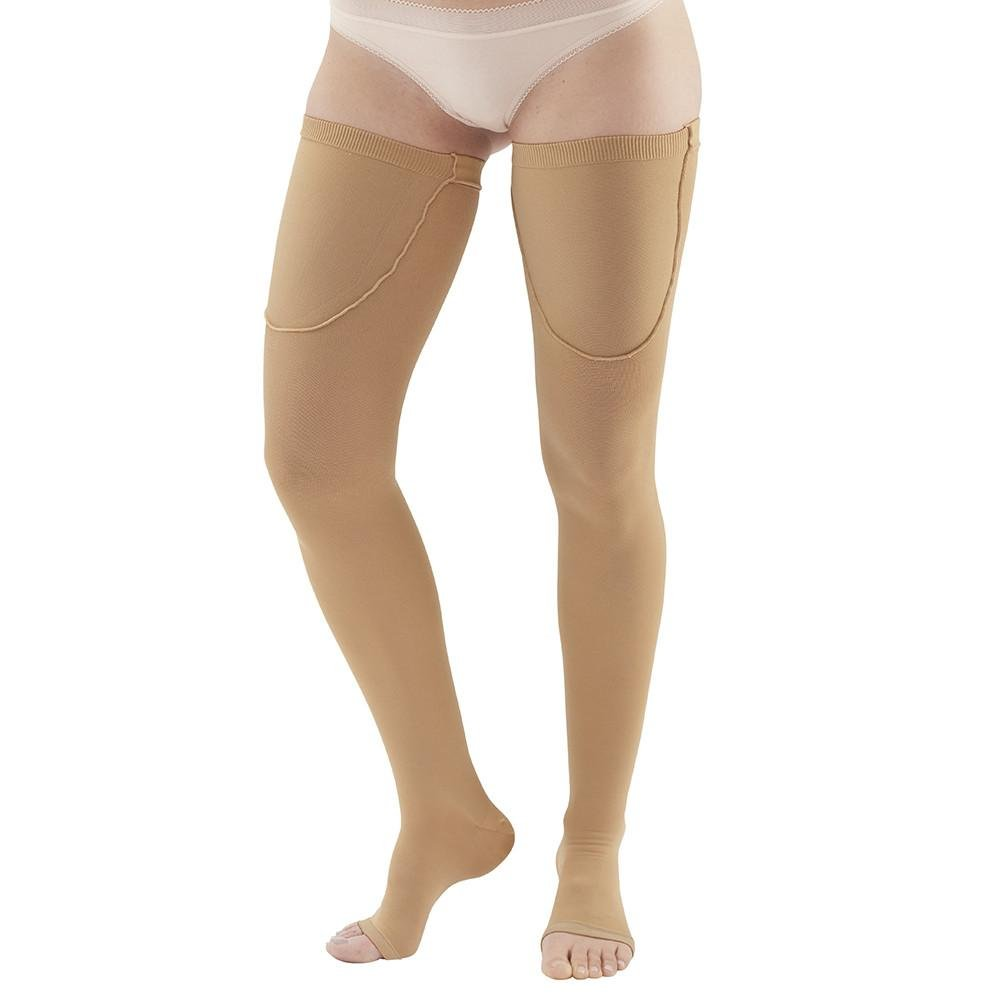 Ames Walker Unisex AW Style 320 Anti-Embolism Open Toe Compression Thigh High