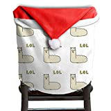 Llama Animal Christmas Chair Covers STYLISH Easy To Carry Chair Covers For Christmas For Family Chair Back Covers Holiday Festive