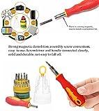 DeoDap Magnetic ScrewDriver 31 in 1 Repairing Tool Set Kit Replaceable Straight Screw-Driver MultiTool Hand Tool