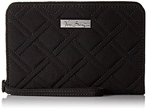 Vera Bradley Zip-Around Wristlet, Classic Black, One Size