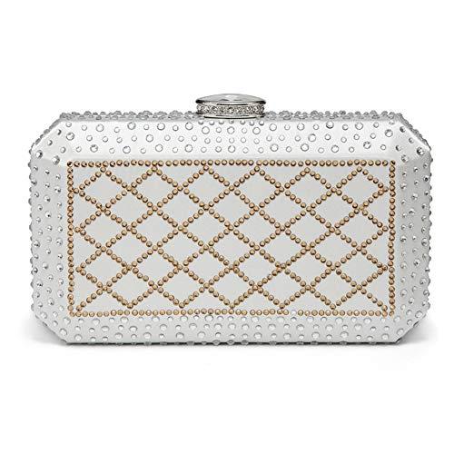 Diamants soirée C de Bridal Classique Sacs Bal 20x10cm Femme de D 8x4inch Jours Main Sac Incrusté à soirée de Et Pochette d'autres fériés Soirée 0AAqEc