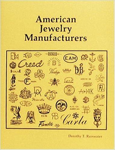 American Jewelry Manufacturers: Dorothy T  Rainwater: 9780887401206