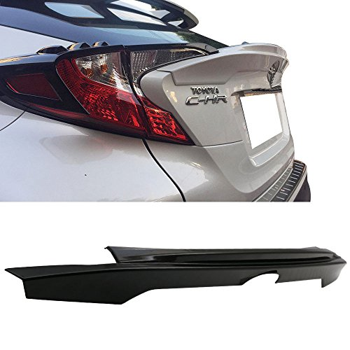Trunk Spoiler Fits 17-18 Toyota CHR C-HR | ARS Style Rear Trunk Wing Unpainted Black ABS by IKON MOTORSPORTS (Spoiler Unpainted Wing)