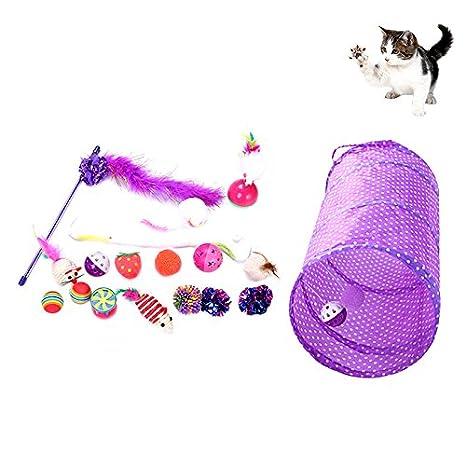 Petacc Juguetes para gatos Set Juguetes para mascotas ecológicos Paquete de variedad Colección de juguetes para ...