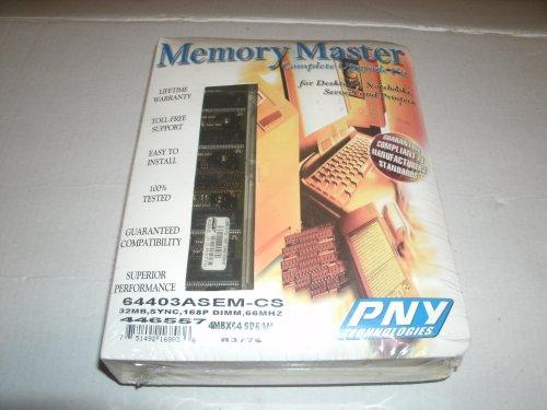 Pc66 168 Pin Dimm Ram - PNY - Memory - 32 MB - DIMM 168-pin - SDRAM - 66 MHz / PC66 - 3.3 V - unbuffered - non-ECC