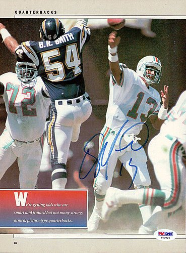Dan Marino Signed Magazine Page Photograph Dolphins - Certified Genuine Autograph By PSA/DNA - Autographed Football - Marino Photograph Dan Signed