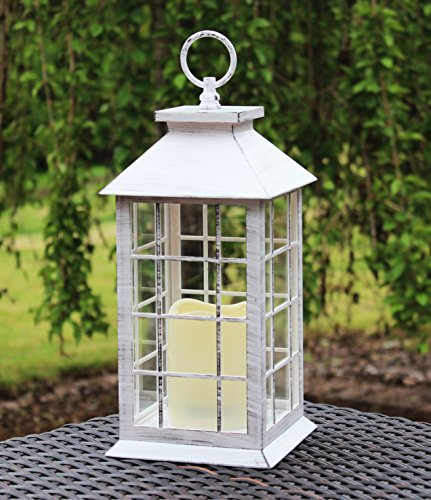 Country Rustic Lantern Flickering Flameless product image