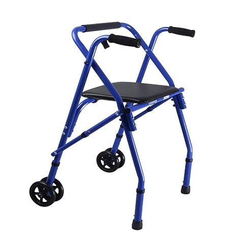 HGBKJUO Andador para Adulto Ancianos, Rollator Plegable de 4 ...