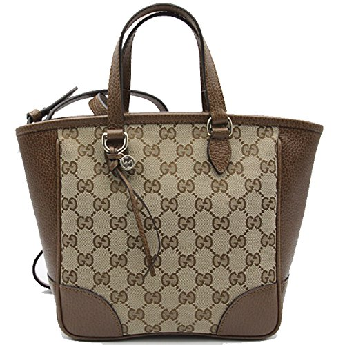 Gucci Bree Small GG Canvas Tote Bag Nocciola Brown New Bag (Tote Bag Gucci Handbag Purse)