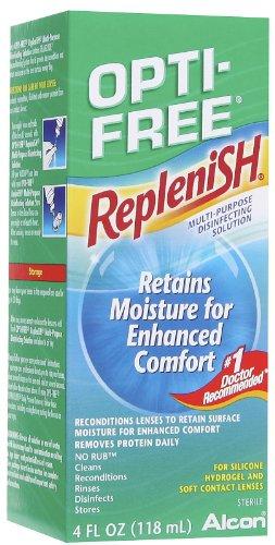 Opti-Free Replenish Multi-Purpose Solution désinfectante, 4 fl oz (118 ml) (pack de 24)