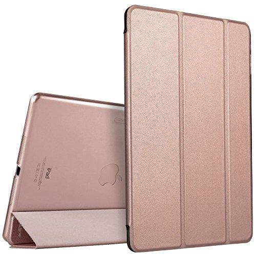 iPad Mini Hülle, ESR® Yippee Series Auto Aufwachen / Schlaf Funktion PU Ledertasche mit Durchschaubar Rückseite Abdeckung Schutzhülle für iPad mini 3/2/1 (Roségold)